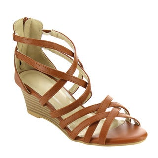 Beston Strappy Wedge Sandals