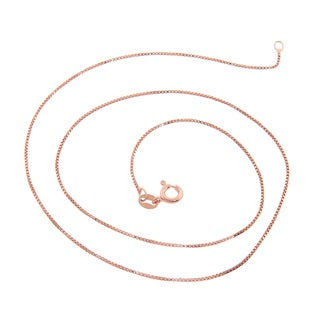 Eternally Haute Rose Gold Over Silver Box Chain - Pink