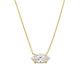 Eternally Haute 14k Gold Overlay Marquise-cut Statement Necklace (3 options available)