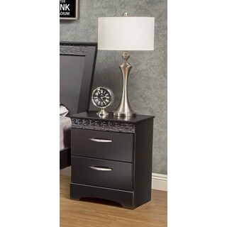 Sandberg Furniture Jolie 2-drawer Black Nightstand