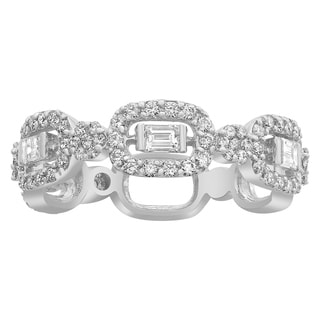 Beverly Hills Charm 14k White Gold 9/10ct TDW Diamond Anniversary Band Ring
