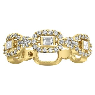 Beverly Hills Charm 14k Yellow Gold 9/10ct TDW Diamond Anniversary Band Ring (H-I, SI2-I1)