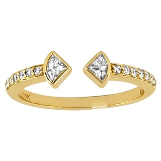 Beverly Hills Charm 14k Yellow Gold 1/3ct TDW Diamond Anniversary Opne Band Ring (H-I, SI2-I1)