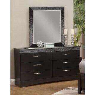 Sandberg Furniture Jolie 6 Drawer Dresser and Mirror