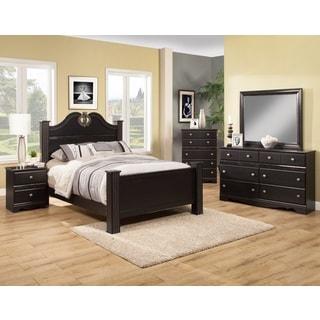 Sandberg Furniture Vienna Black Bedroom Set in Queen, California King, or Easter King