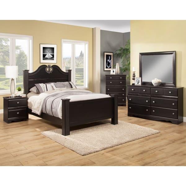 Shop Sandberg Furniture Vienna Black Bedroom Set in Queen ...