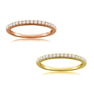 Montebello Jewelry 14k Gold 1/4ct TDW White Diamond Pave-set Wedding Band (G-H, VS1-VS2)