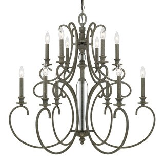 Capital Lighting Everleigh Collection 12-light French Greige Chandelier