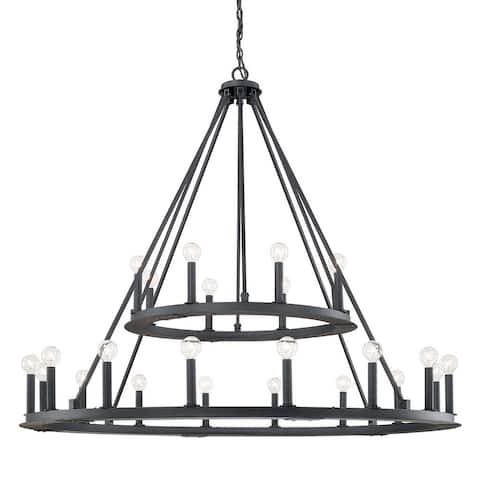 Pearson 24-light Black Iron Chandelier