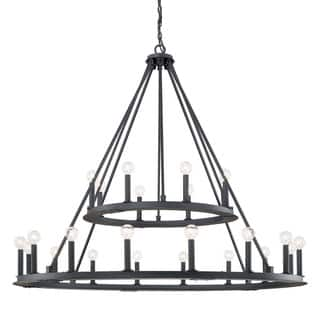 Capital lighting ceiling lights for less overstock capital lighting pearson collection 24 light black iron chandelier aloadofball Image collections