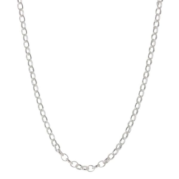 Pori Italian Sterling Silver Rolo Chain Necklace (2mm)