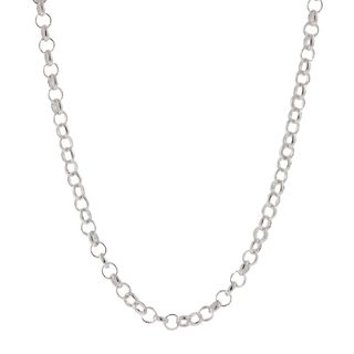 Pori Italian Sterling Silver 2.5 mm Rolo Chain Necklace