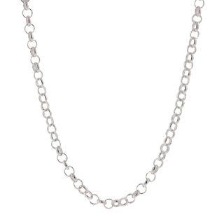 Pori Italian Sterling Silver 2.5 mm Rolo Chain Necklace