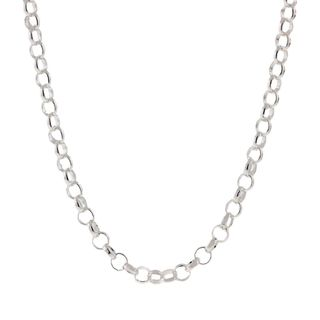 Pori Italian Sterling Silver Rolo Chain Necklace (3mm)