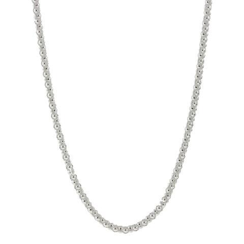 Pori Italian Sterling Silver Coreana Chain Necklace (2mm)