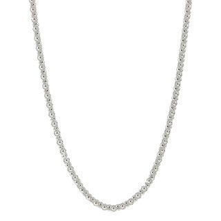 Pori Italian Sterling Silver Coreana Chain Necklace (2mm)