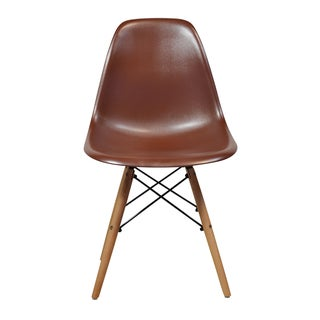 Eames Style Mid Century Modern Brown Side Chair (India)
