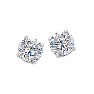 Sterling Silver 6mm Cubic Zirconia Stud Earrings