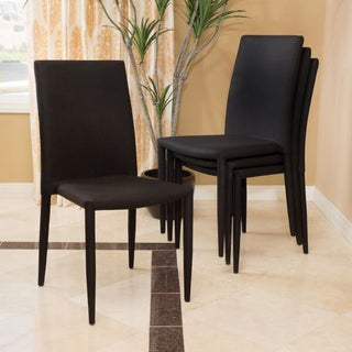 Christopher Knight Home Comstock Fabric Stackable Dining Chair (Set of 4) (2 options available)