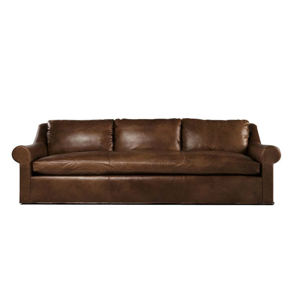 Extra Long Leather Sofa For Sale: Abingdon 9-foot Leather Made To Order Sofa Extra Deep