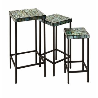 Aramis Mosaic Glass Tables (Set of 3)