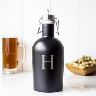 Black Stainless Steel Personalized 64-ounce Growler