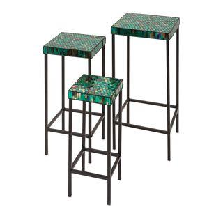 Darwin Mosaic Glass Tables (Set of 3)