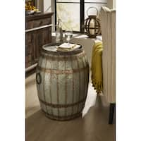 The Gray Barn Makali'I Wine Barrel Storage Table