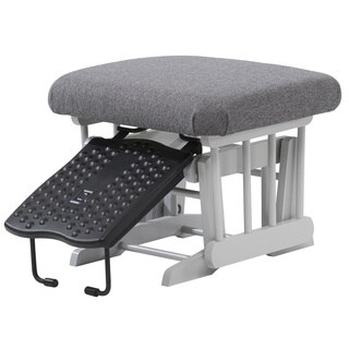 Dutailier Grey Chenille/Wood/Polyester Nursing Ottoman For Sleigh gliders