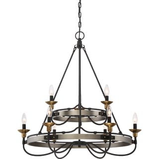 Quoizel Castle Hill Two-tier Chandelier With 9 Lights