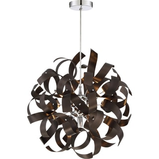 Quoizel Platinum Collection Steel Ribbons Pendant With 5 Lights