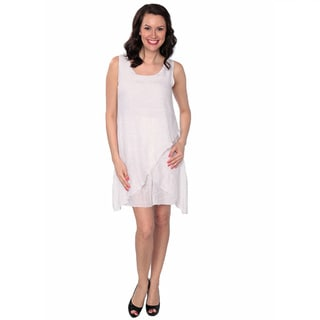 Nancy Yang Women's Linen-Blend Layered Sleeveless Dress