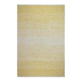 Fab Habitat Indo Aurora Gold Recycled Cotton Area Rug (2' x 3')