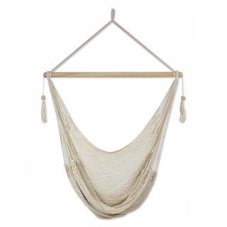 Handmade Cotton 'Ocotal Sands' Hammock Swing (Nicaragua)