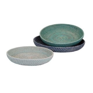 Adriel Rattan Trays (Set of 3)