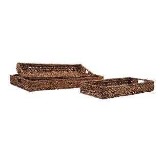 Madura Banana Leaf Trays (Set of 3)
