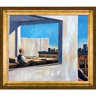 Edward Hopper 'Office in a Small City, 1953' Hand Painted Framed Canvas Art