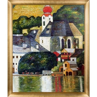 Gustav Klimt 'Church in Unterach on the Attersee' Hand Painted Framed Canvas Art
