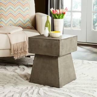 """Safavieh Zen Mushroom Concrete Indoor/ Outdoor Accent Table (Dark Grey) - 13.7"""" x 13.7"""" x 18.1"""""""