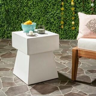 """Safavieh Zen Mushroom Concrete Indoor/ Outdoor Accent Table (Ivory) - 13.7"""" x 13.7"""" x 18.1"""""""