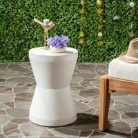 Safavieh Torre Concrete Indoor/ Outdoor Accent Table (Ivory)