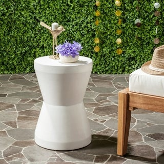 Safavieh Torre Concrete Indoor/ Outdoor Accent Table (Ivory)