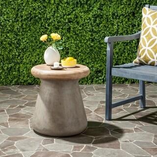 Safavieh Button Concrete Indoor/ Outdoor Accent Table (Dark Grey)