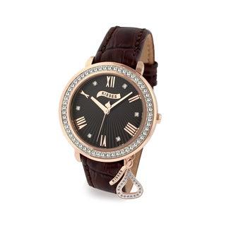 Hershey's Kisses Brown Leather Strap Ladies Watch