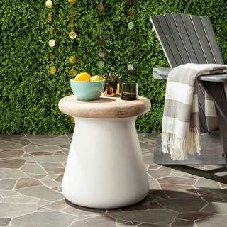Safavieh Button Concrete Indoor/ Outdoor Accent Table (Ivory)