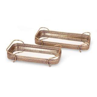 Valencia Metal Trays (Set of 2)