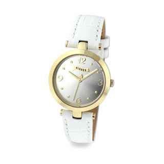 Hershey's Kisses Ladies KS012GDWT White Leather Strap Watch