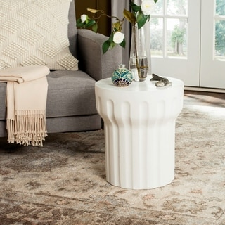 Safavieh Vesta Concrete Accent Table (Ivory)