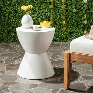 Safavieh Athena Concrete Accent Table (Ivory)
