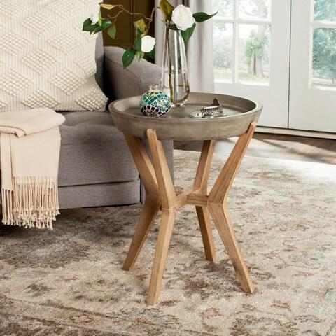 Safavieh Celeste Indoor/ Outdoor End Table (Dark Grey)